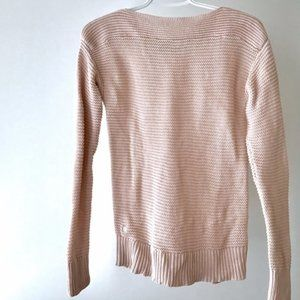 Ralph Lauren Pink Boat Neck Cotton Sweater